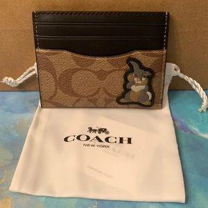 Coach x Disney Thumper Card Holder/Case